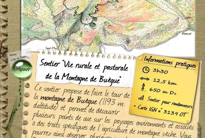 """Sentier """" Vie rurale et pastorale de la montagne du Buègue """" à Saint-May - 0"""